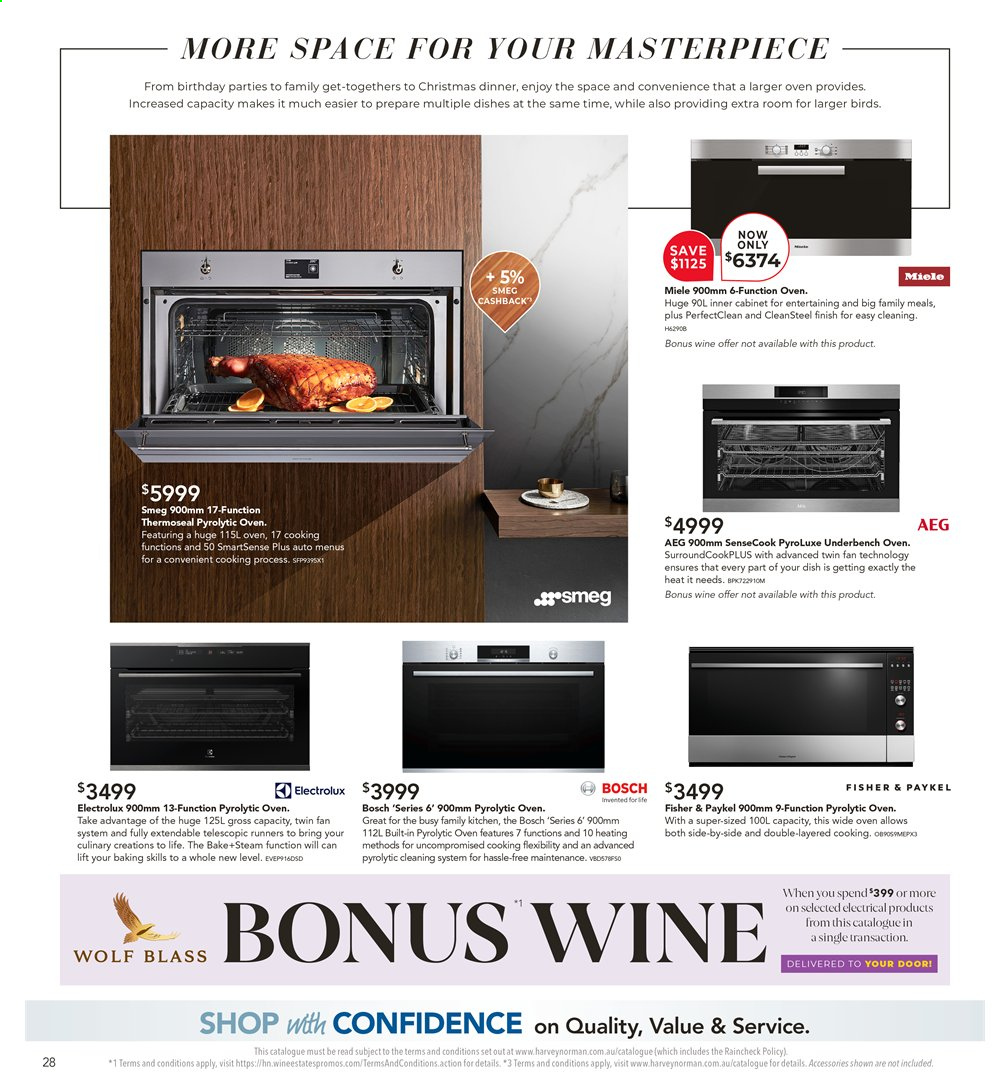 Harvey Norman catalogue  - 26.7.2019 - 25.8.2019. Page 28.