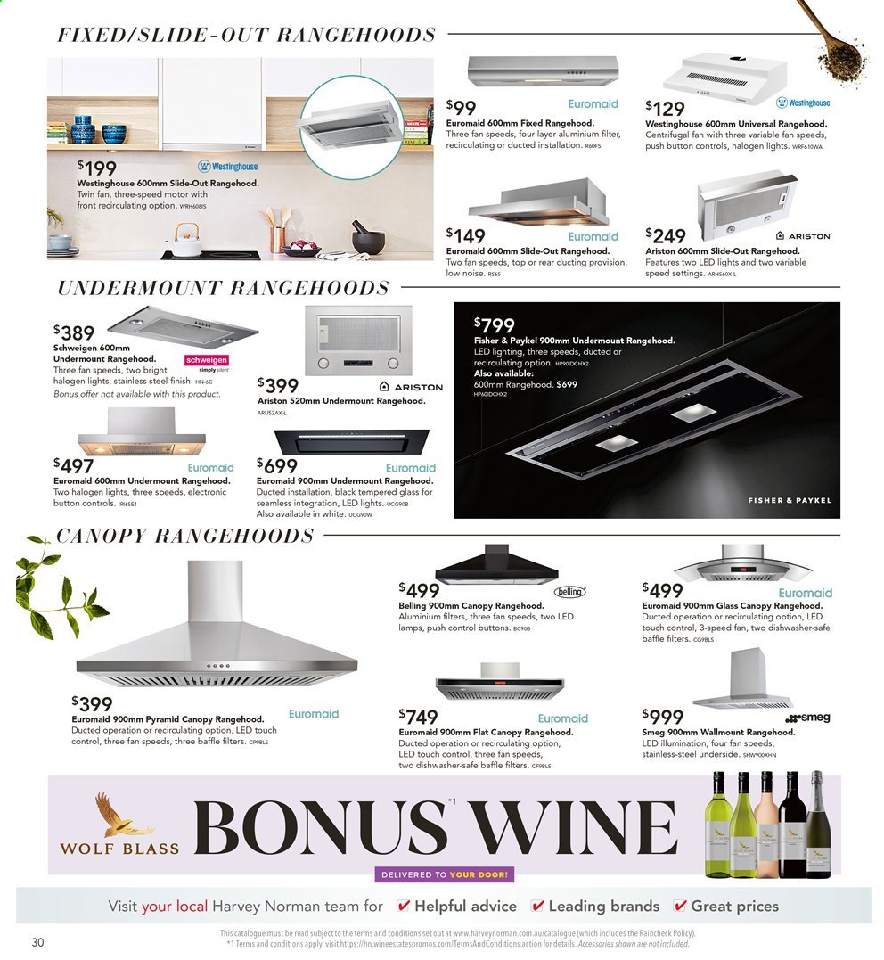 Harvey Norman catalogue  - 26.7.2019 - 25.8.2019. Page 30.