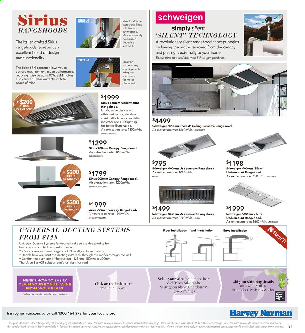 Harvey Norman catalogue  - 26.7.2019 - 25.8.2019. Page 31.