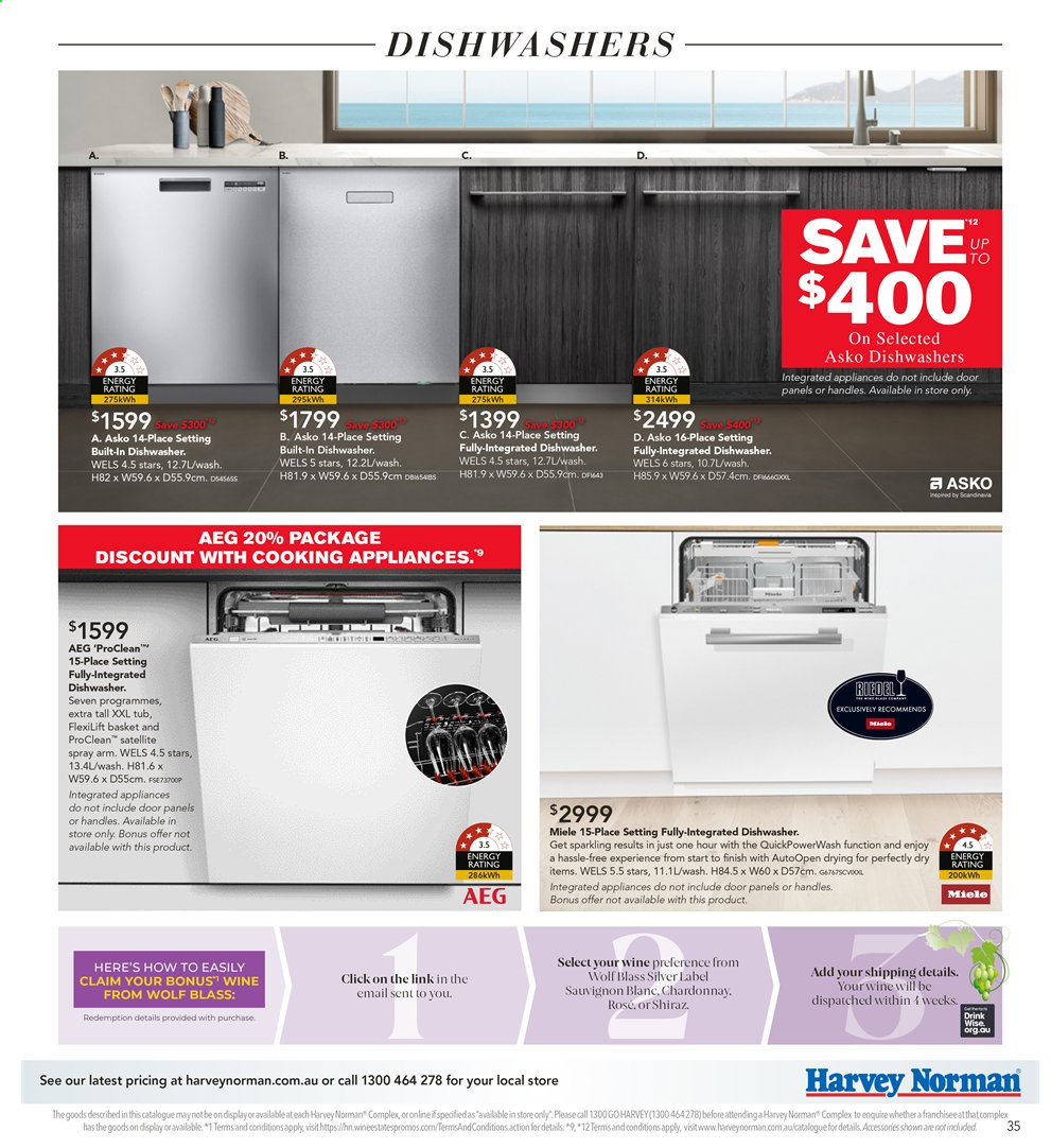 Harvey Norman catalogue  - 26.7.2019 - 25.8.2019. Page 35.