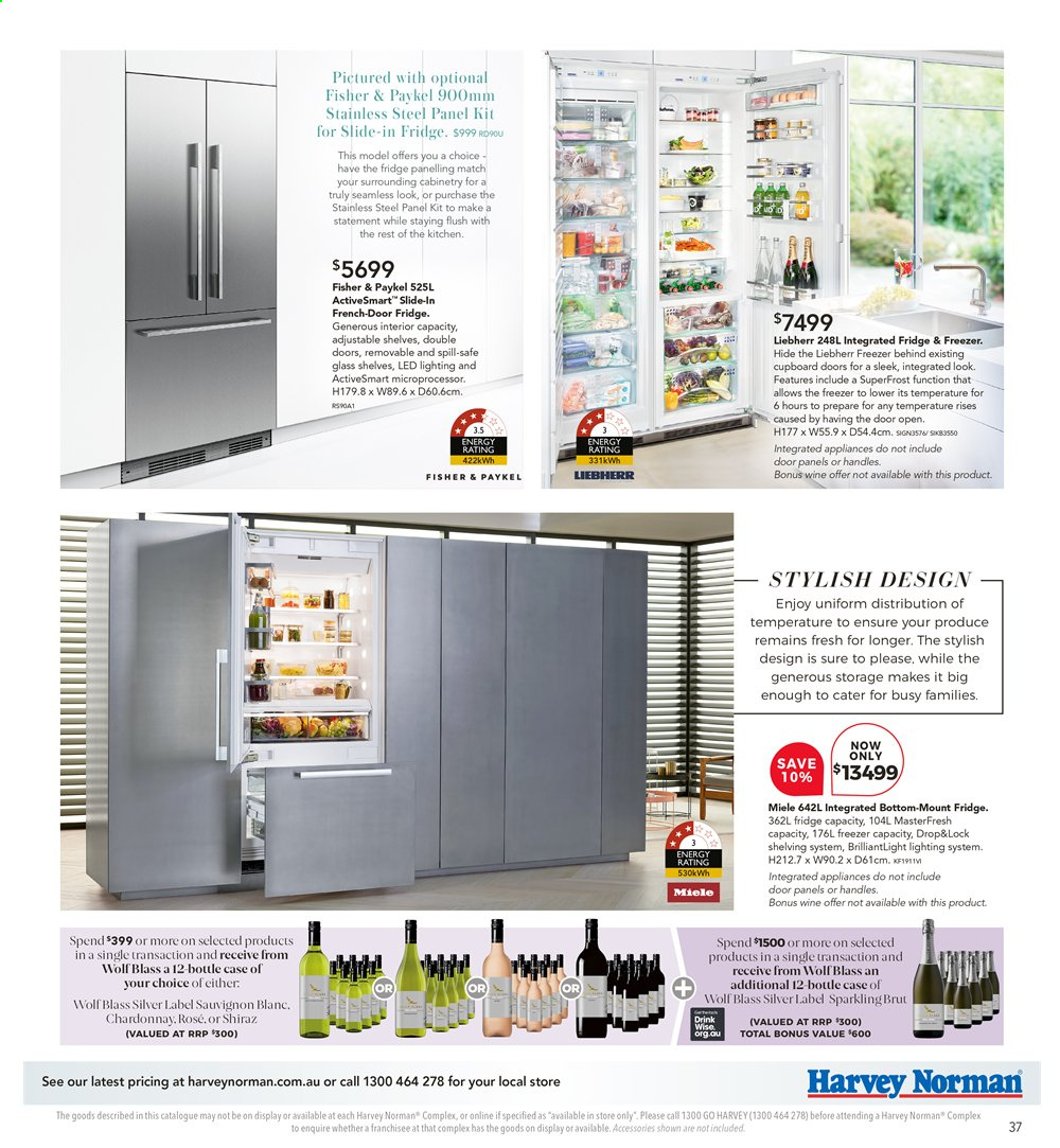 Harvey Norman catalogue  - 26.7.2019 - 25.8.2019. Page 37.