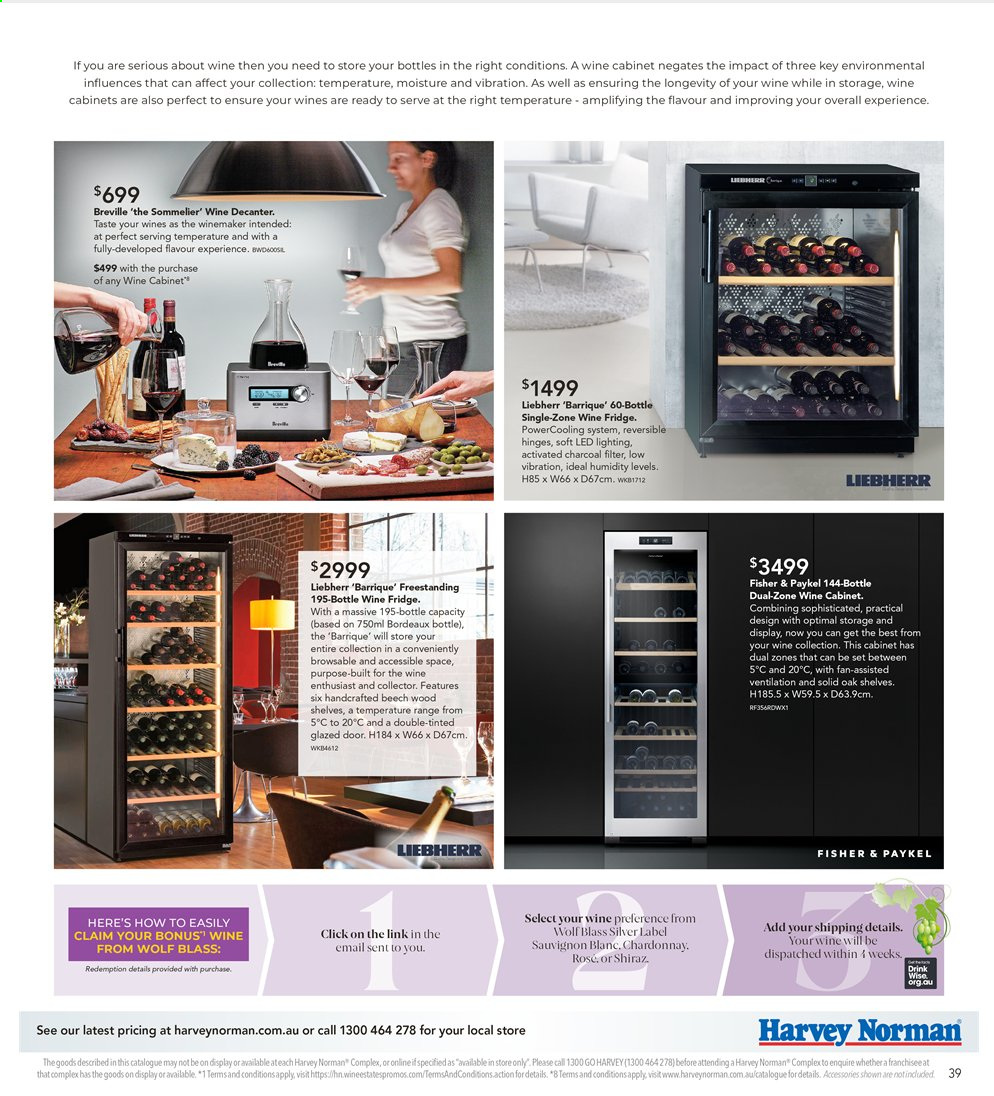 Harvey Norman catalogue  - 26.7.2019 - 25.8.2019. Page 39.