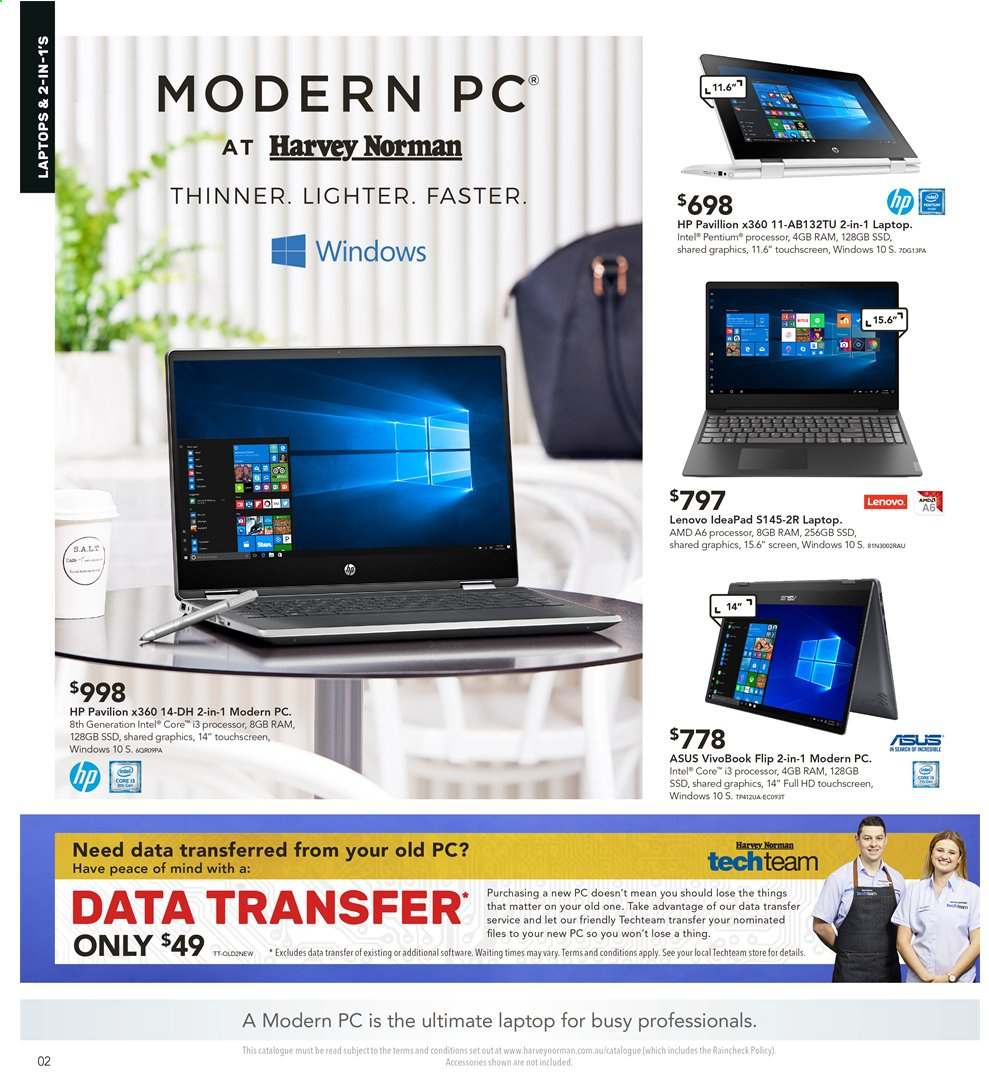 Harvey Norman catalogue  - 2.8.2019 - 18.8.2019. Page 2.