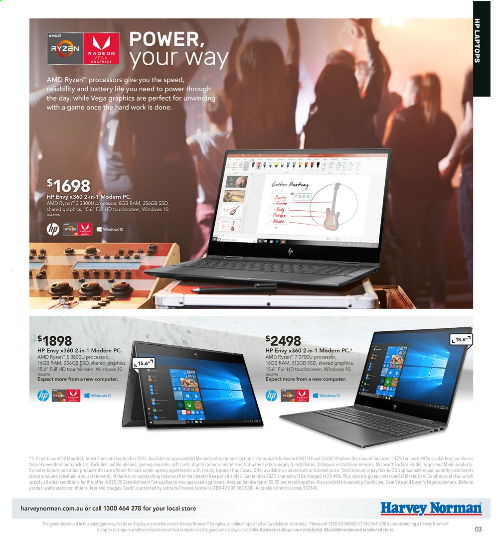 Harvey Norman catalogue  - 2.8.2019 - 18.8.2019. Page 3.