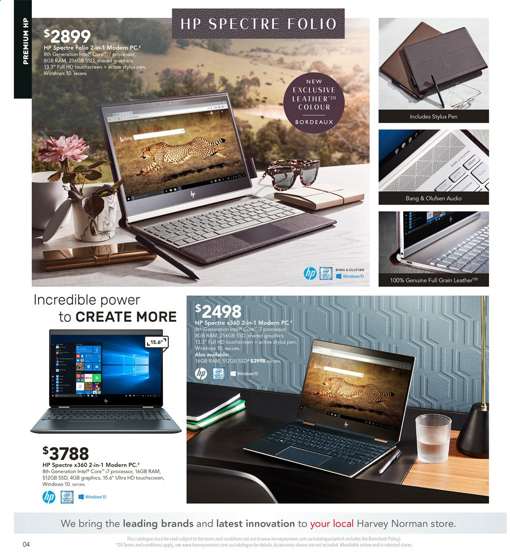 Harvey Norman catalogue  - 2.8.2019 - 18.8.2019. Page 4.