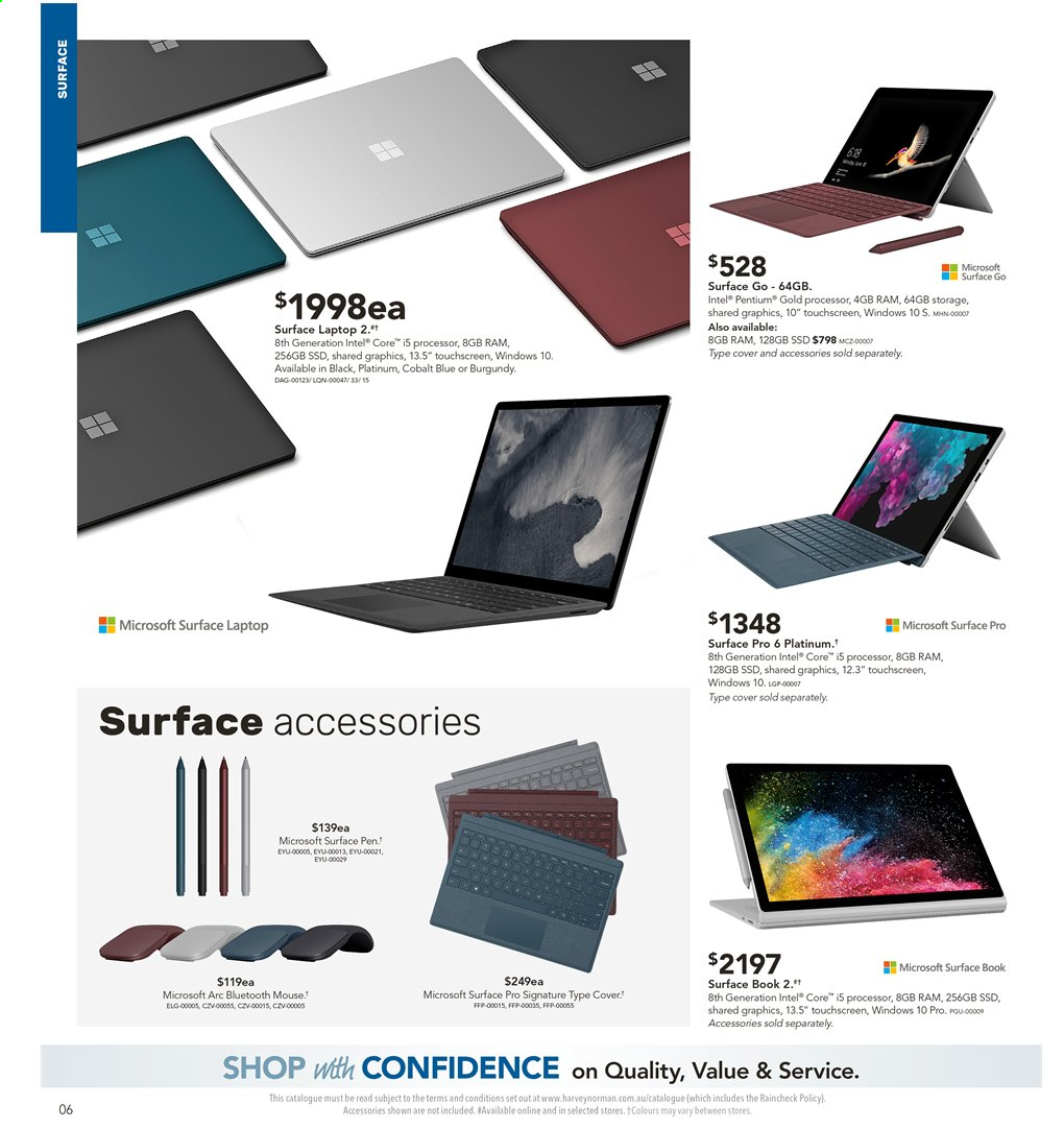 Harvey Norman catalogue  - 2.8.2019 - 18.8.2019. Page 6.