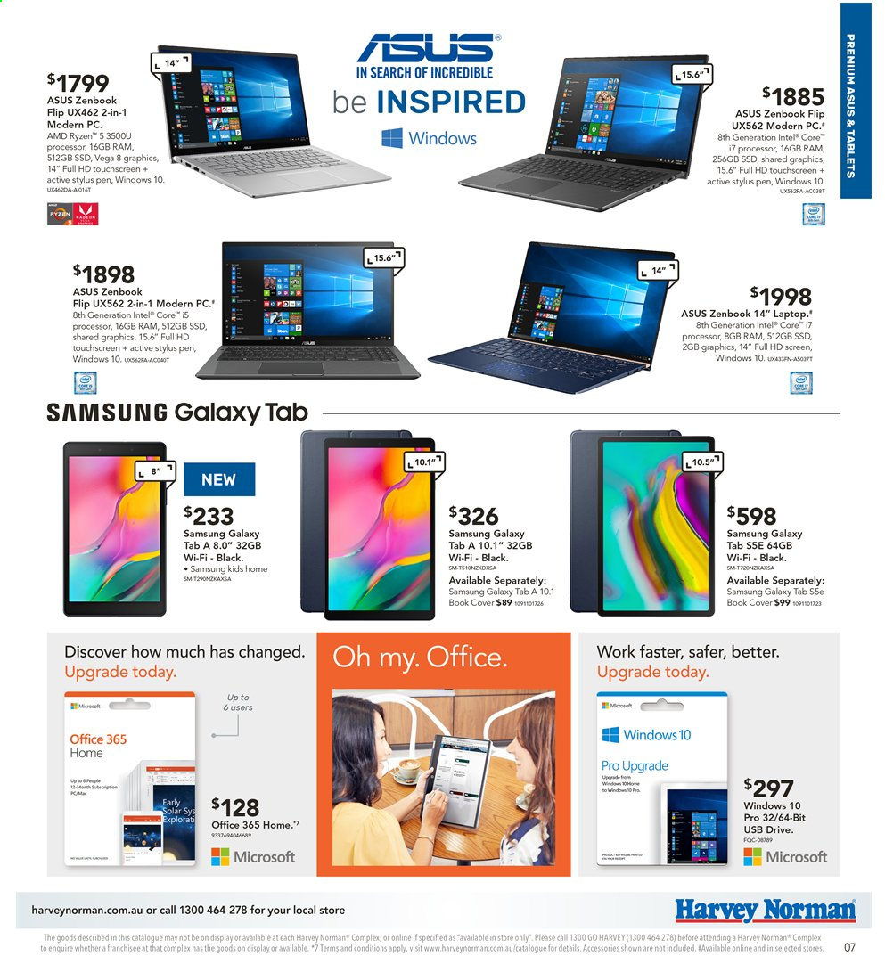 Harvey Norman catalogue  - 2.8.2019 - 18.8.2019. Page 7.