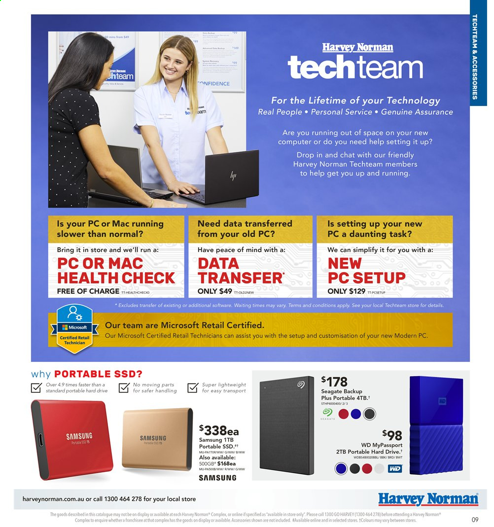 Harvey Norman catalogue  - 2.8.2019 - 18.8.2019. Page 9.