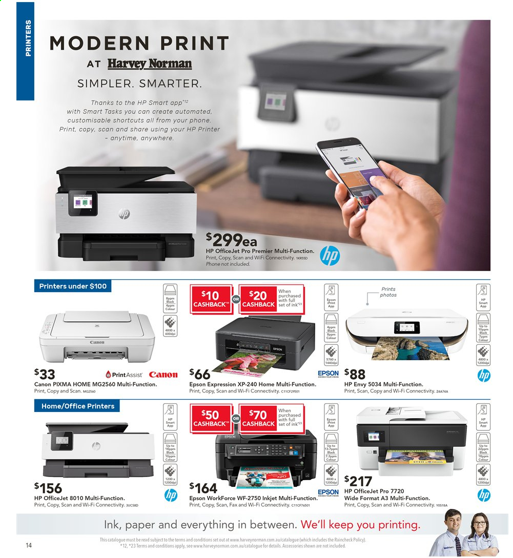 Harvey Norman catalogue  - 2.8.2019 - 18.8.2019. Page 14.