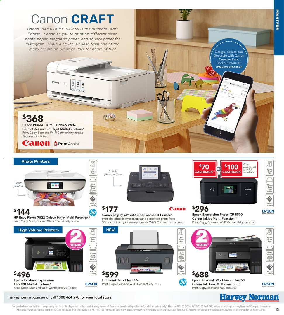 Harvey Norman catalogue  - 2.8.2019 - 18.8.2019. Page 15.