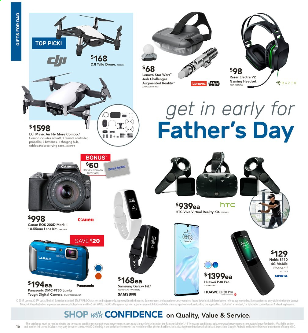 Harvey Norman catalogue  - 2.8.2019 - 18.8.2019. Page 16.