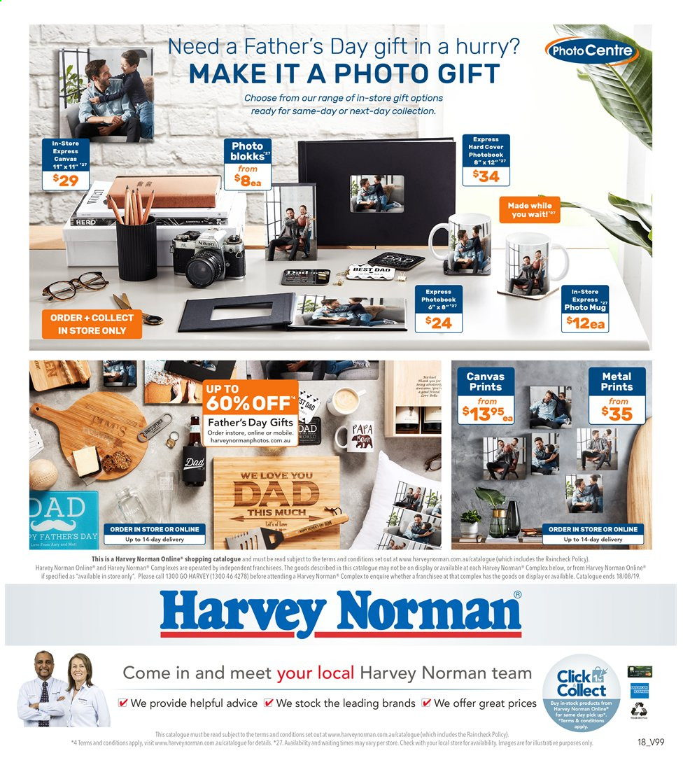 Harvey Norman catalogue  - 2.8.2019 - 18.8.2019. Page 18.