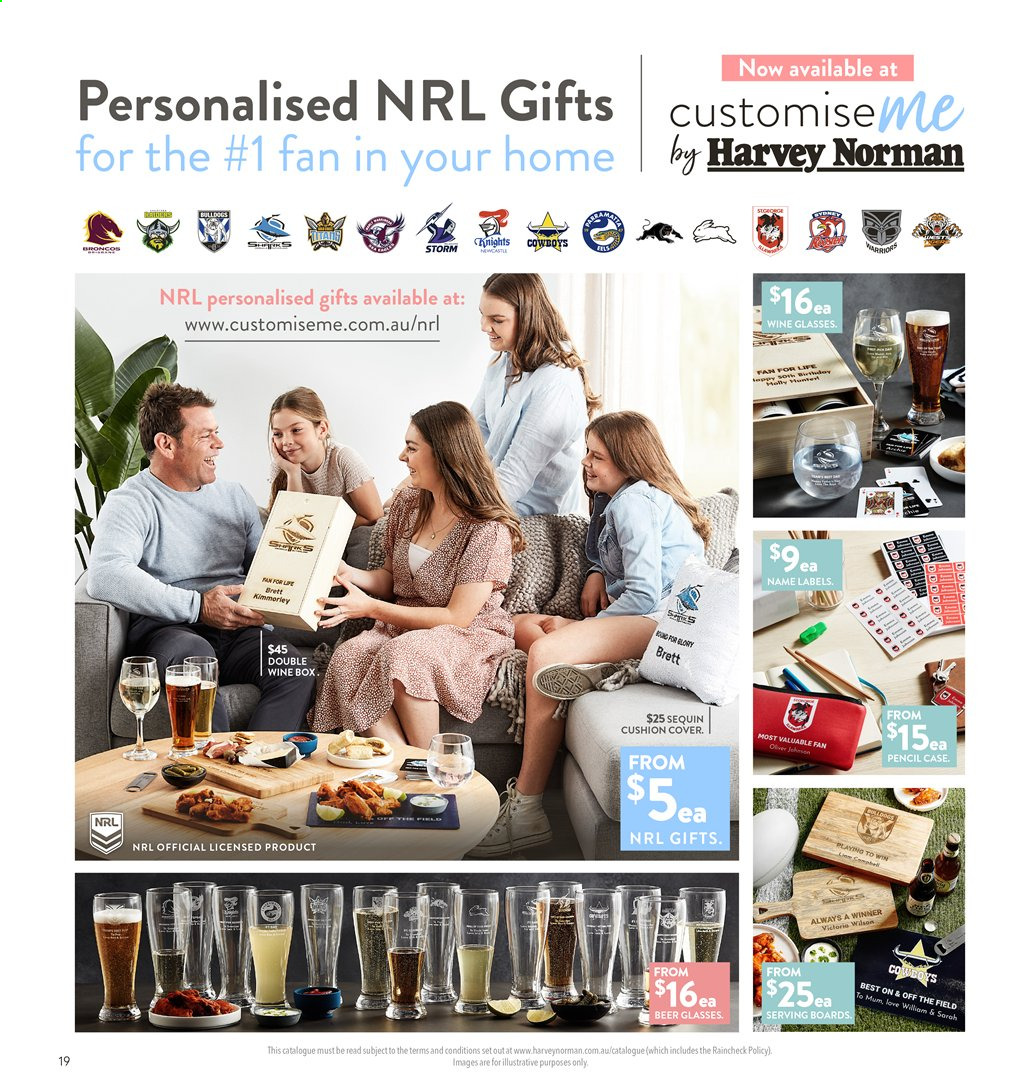 Harvey Norman catalogue  - 2.8.2019 - 18.8.2019. Page 19.