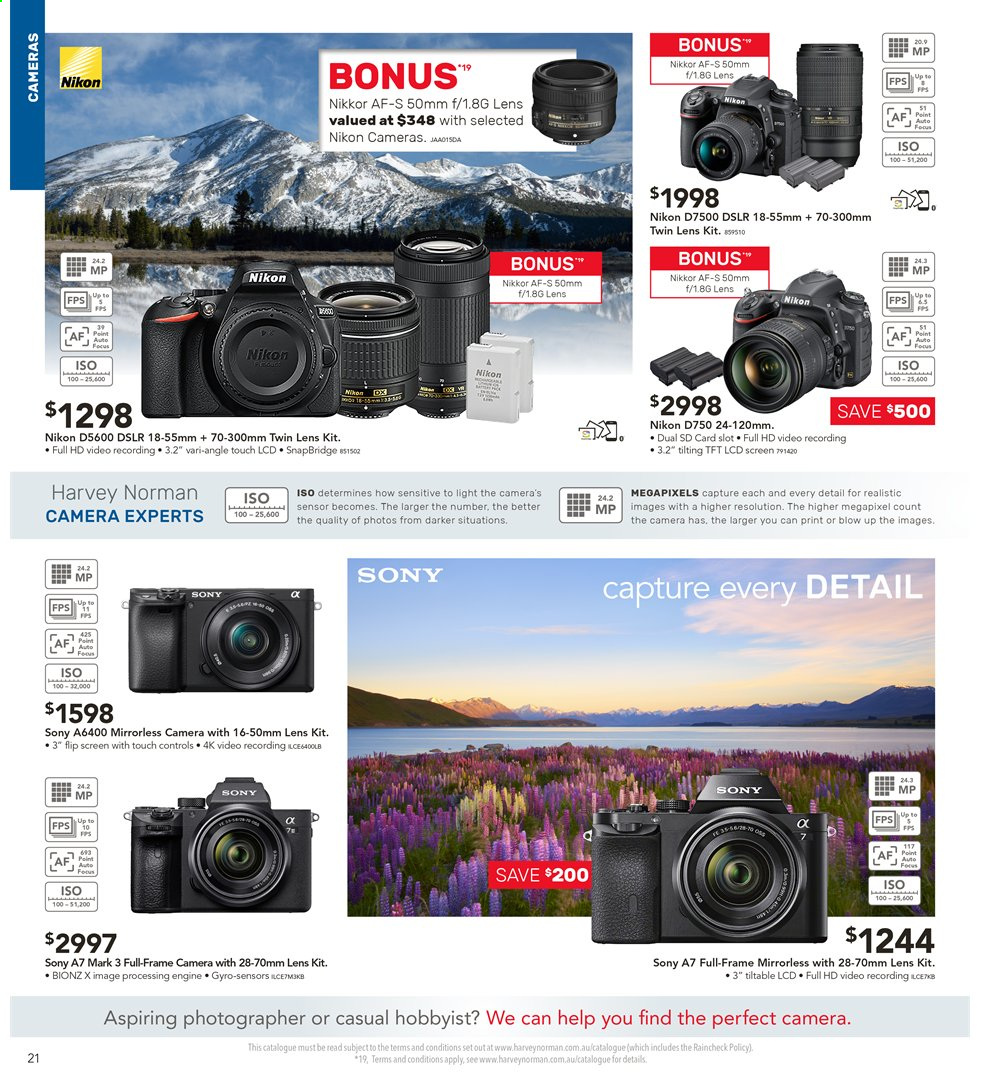 Harvey Norman catalogue  - 2.8.2019 - 18.8.2019. Page 21.