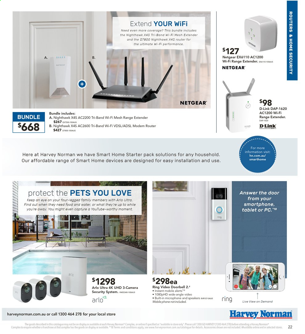 Harvey Norman catalogue  - 2.8.2019 - 18.8.2019. Page 22.