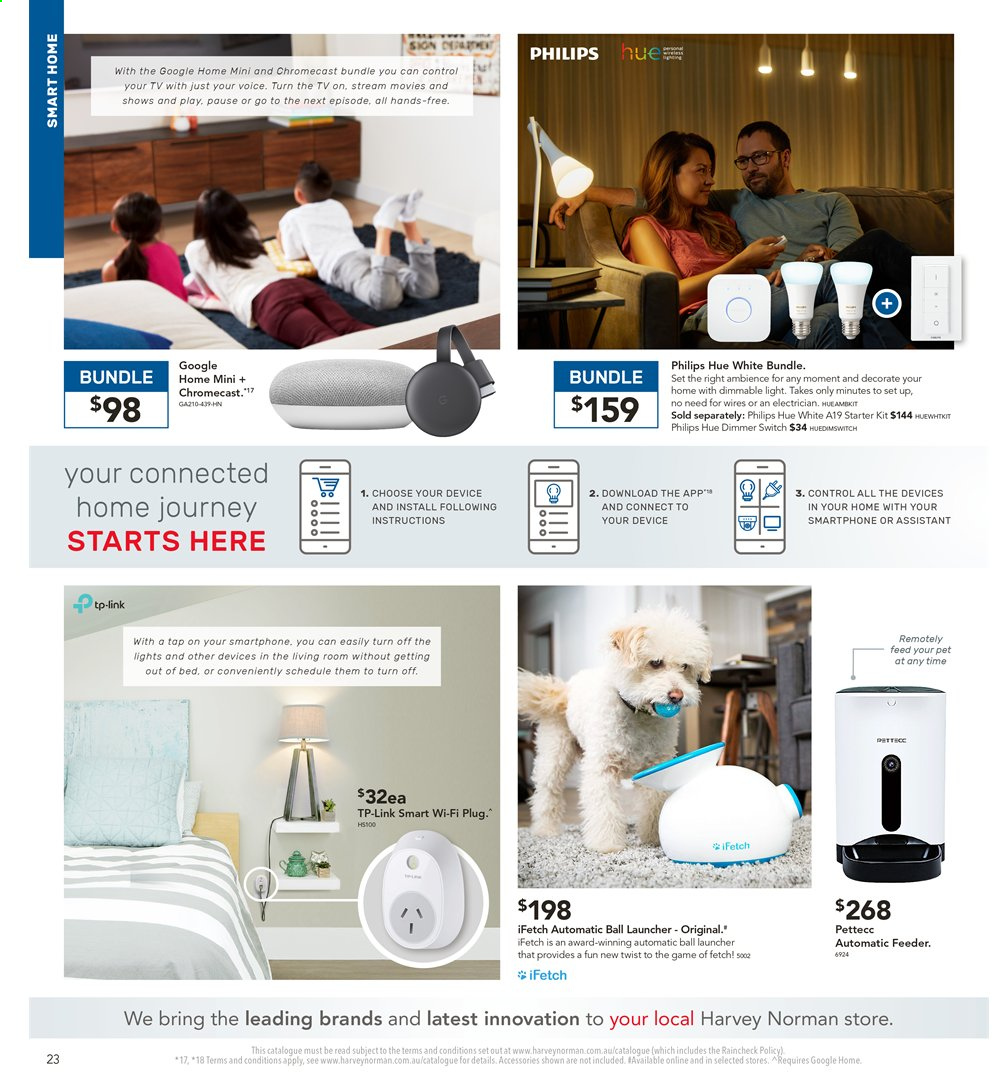 Harvey Norman catalogue  - 2.8.2019 - 18.8.2019. Page 23.
