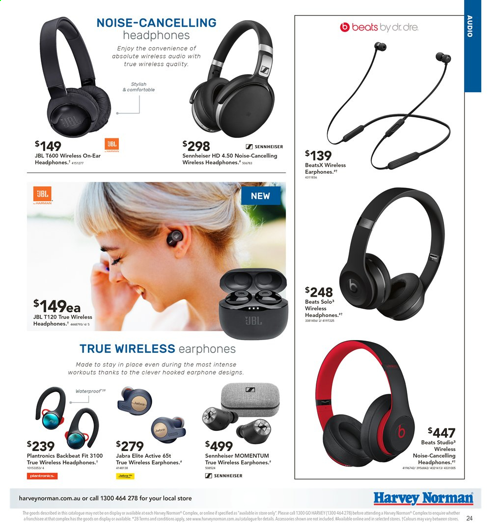 Harvey Norman catalogue  - 2.8.2019 - 18.8.2019. Page 24.