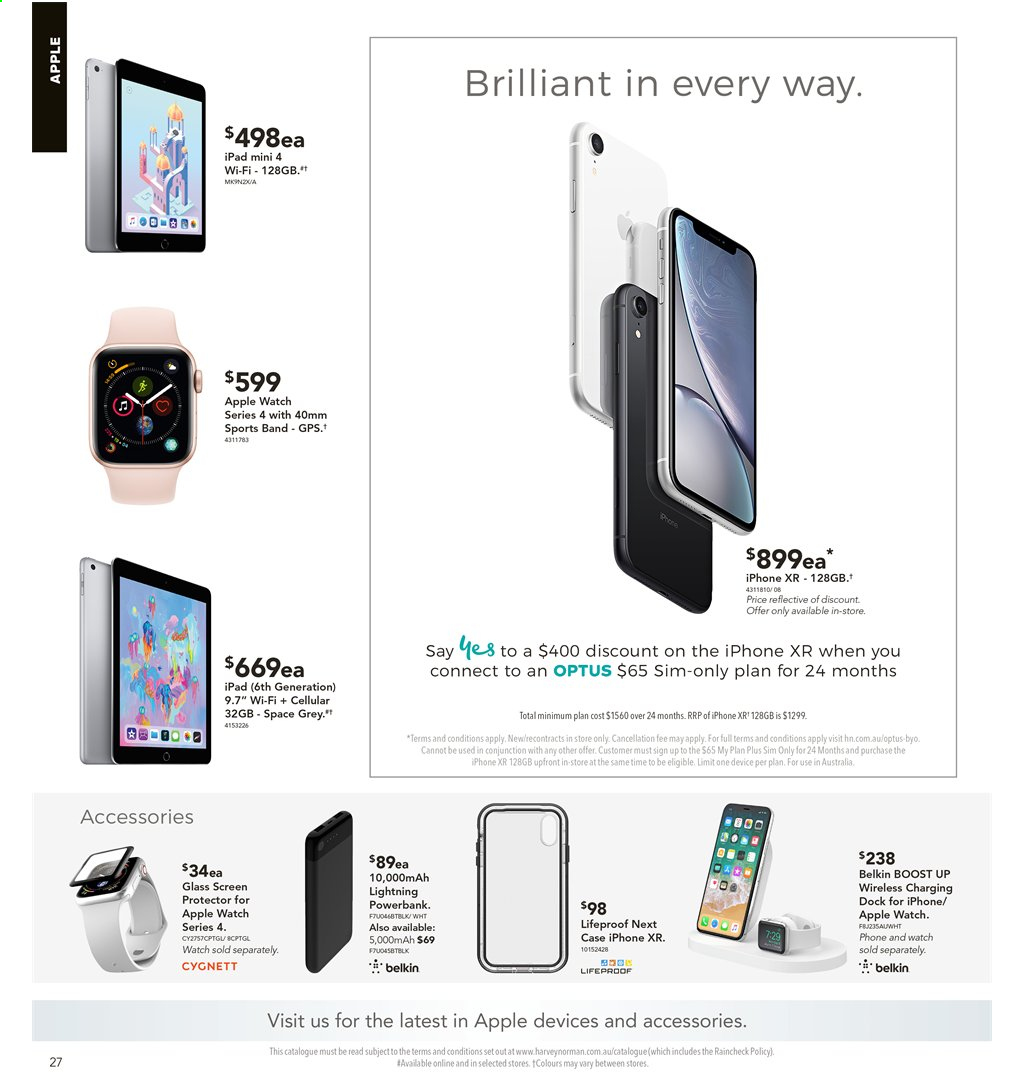 Harvey Norman catalogue  - 2.8.2019 - 18.8.2019. Page 27.