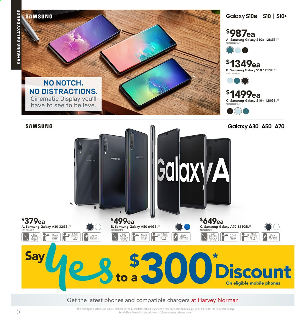 Harvey Norman catalogue  - 2.8.2019 - 18.8.2019. Page 31.