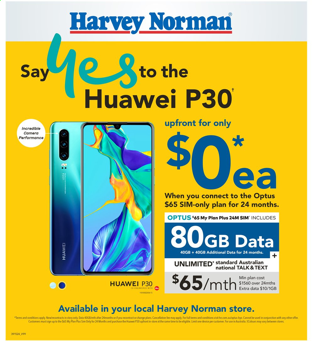 Harvey Norman catalogue  - 2.8.2019 - 18.8.2019. Page 32.