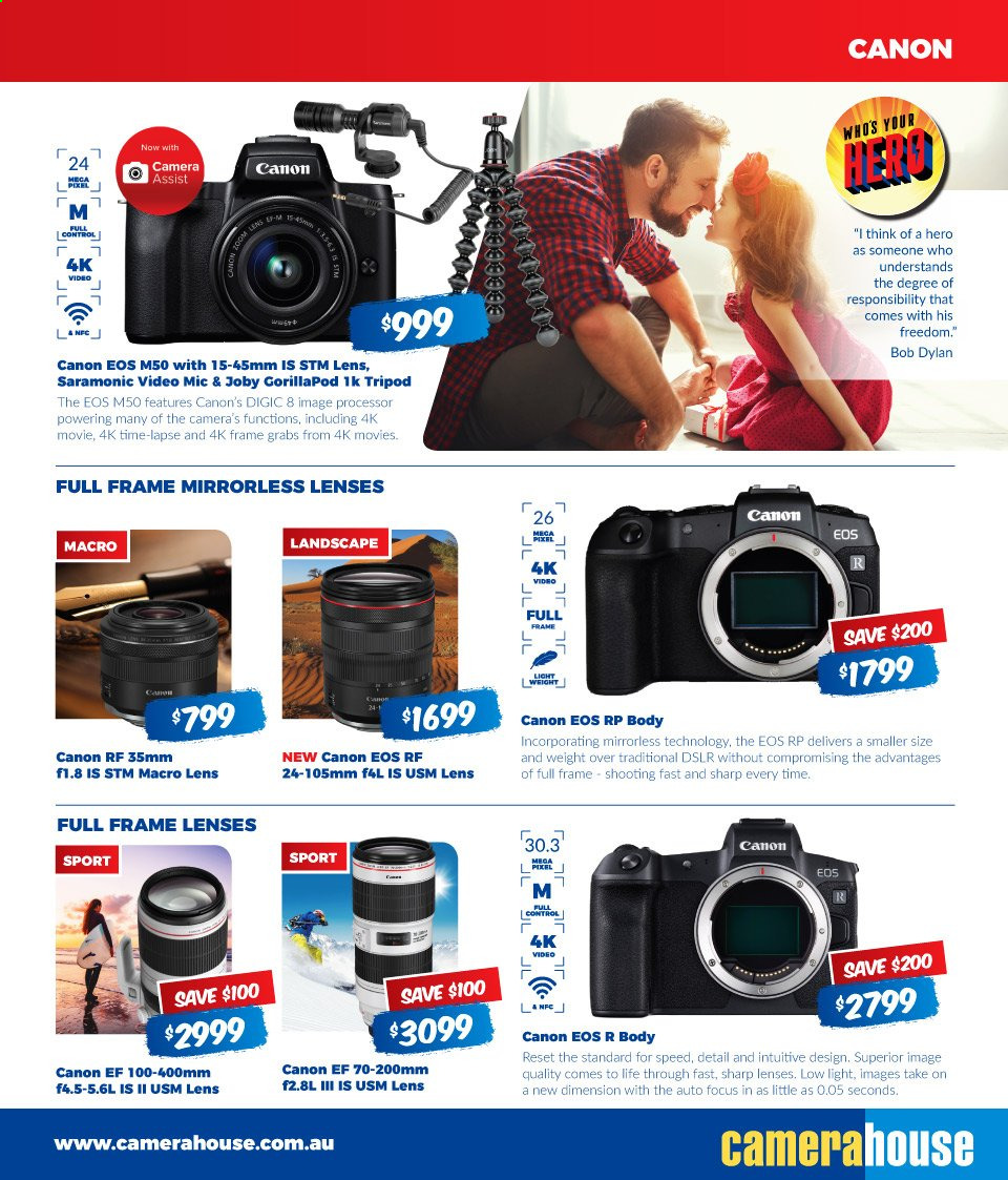 Camera House catalogue  - 5.8.2019 - 1.9.2019. Page 3.