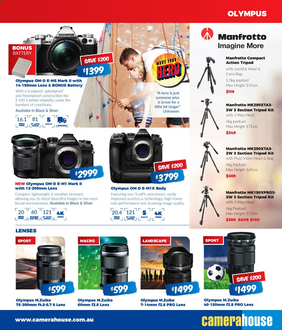Camera House catalogue  - 5.8.2019 - 1.9.2019. Page 11.