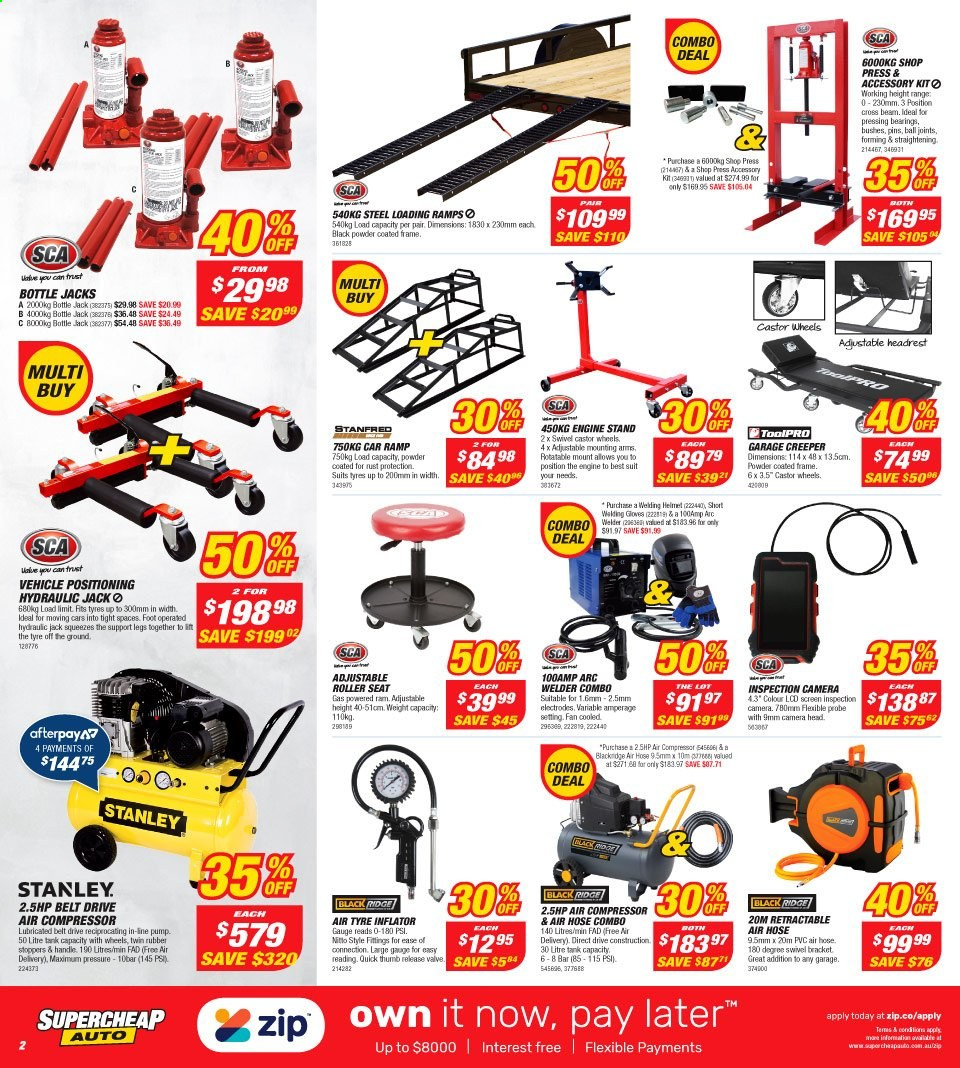 Supercheap Auto catalogue  - 7.8.2019 - 18.8.2019. Page 2.
