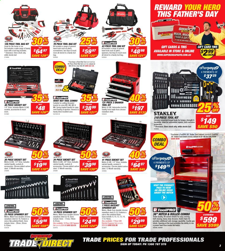 Supercheap Auto catalogue  - 7.8.2019 - 18.8.2019. Page 3.