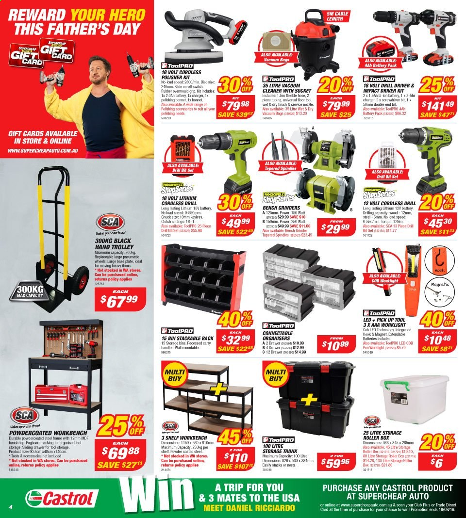 Supercheap Auto catalogue  - 7.8.2019 - 18.8.2019. Page 4.