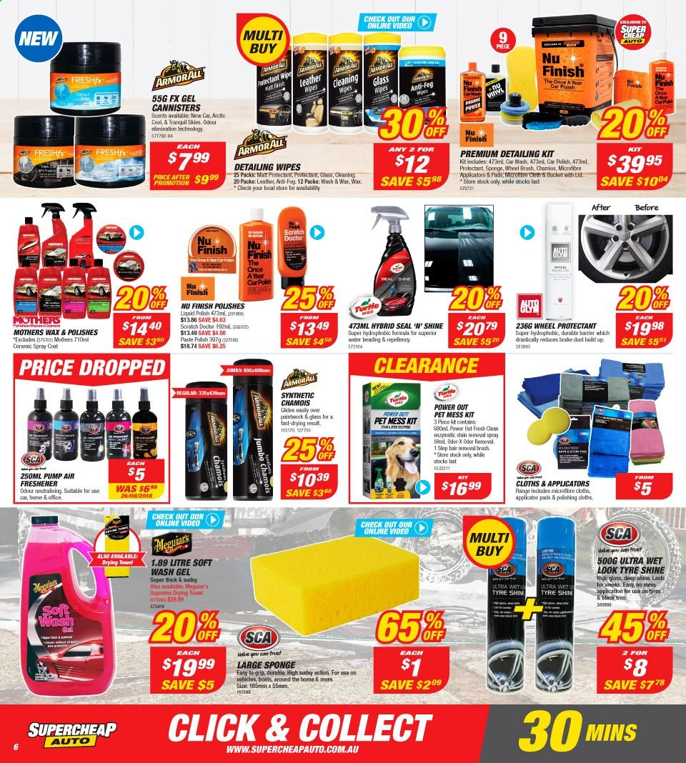 Supercheap Auto catalogue  - 7.8.2019 - 18.8.2019. Page 6.