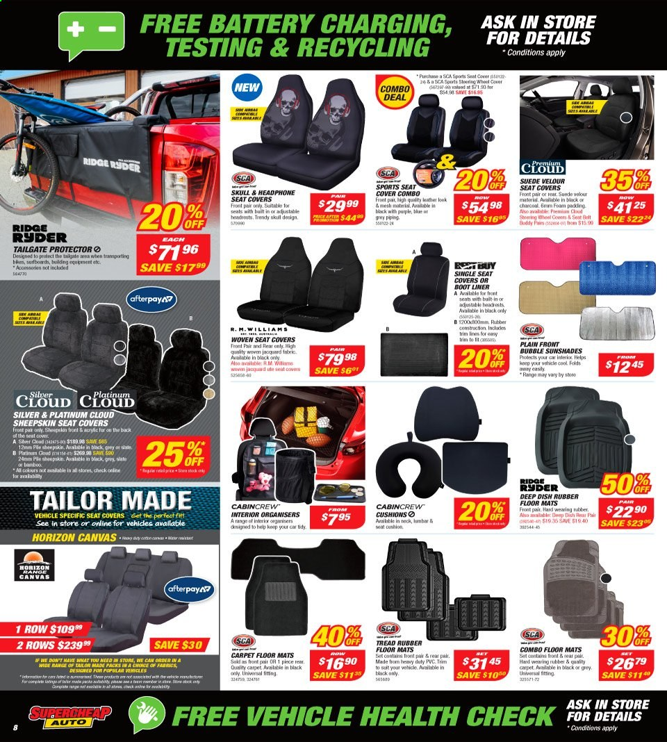 Supercheap Auto catalogue  - 7.8.2019 - 18.8.2019. Page 8.