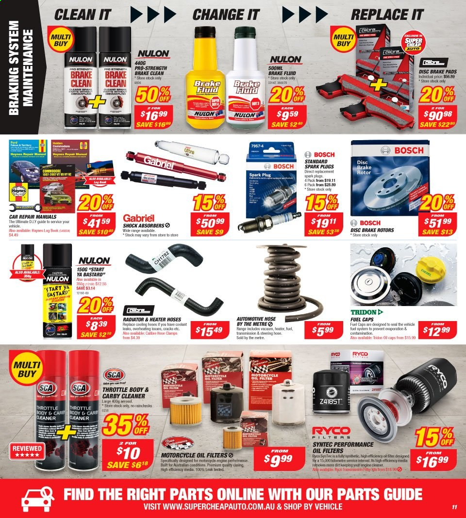 Supercheap Auto catalogue  - 7.8.2019 - 18.8.2019. Page 11.