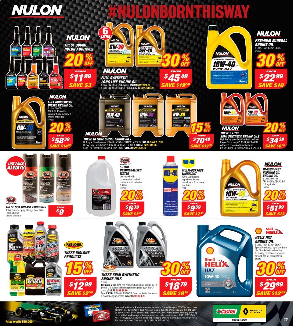Supercheap Auto catalogue  - 7.8.2019 - 18.8.2019. Page 13.