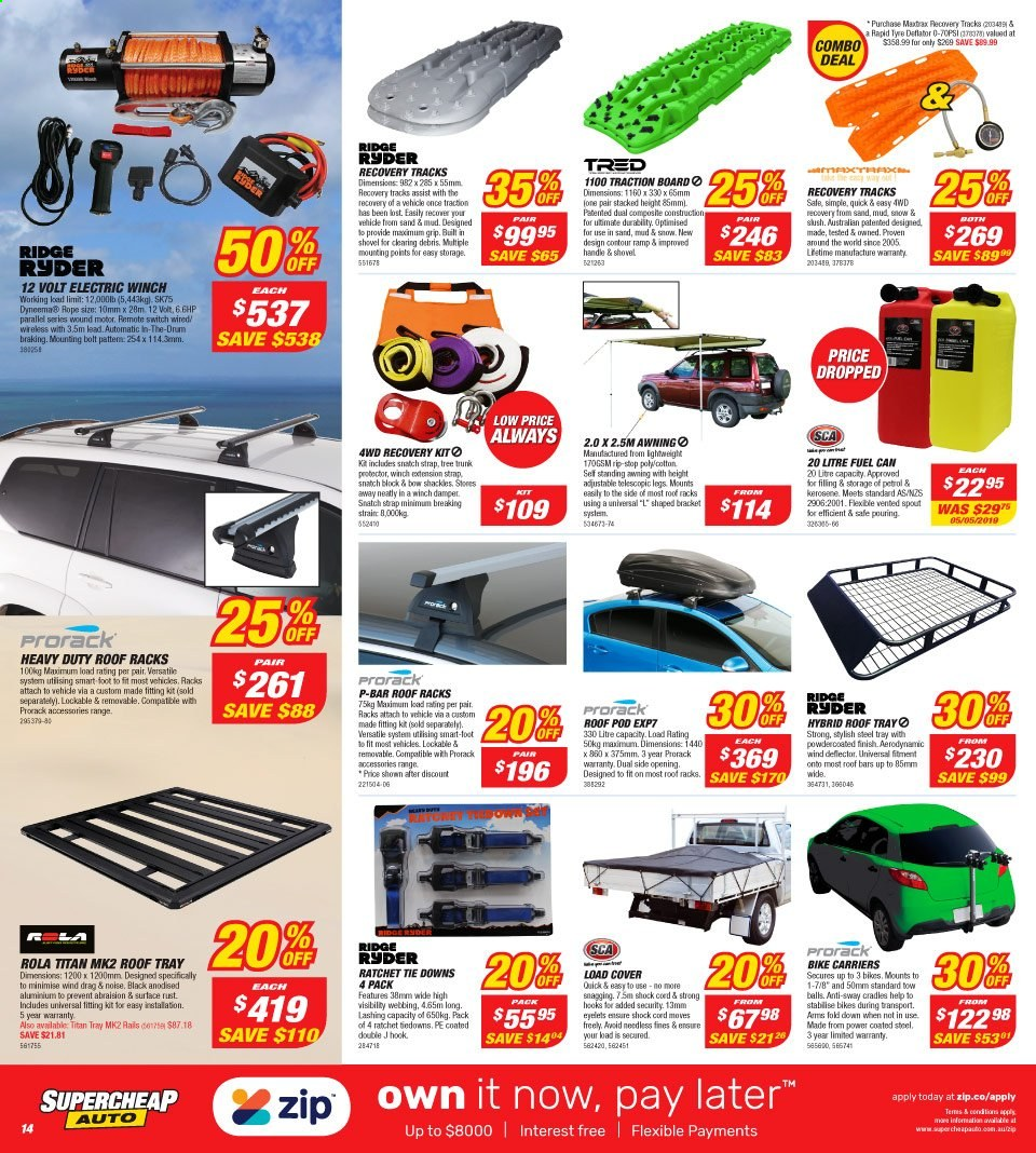 Supercheap Auto catalogue  - 7.8.2019 - 18.8.2019. Page 14.