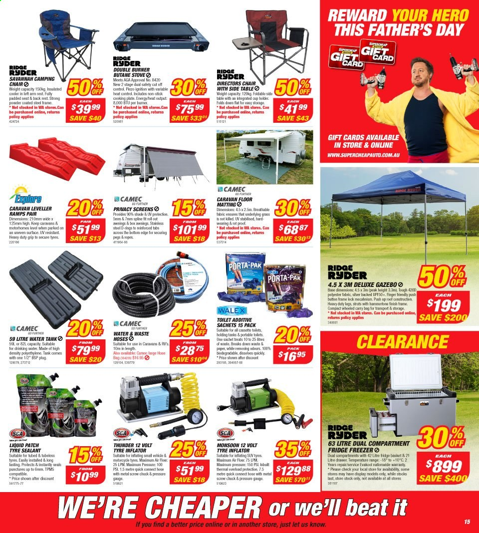 Supercheap Auto catalogue  - 7.8.2019 - 18.8.2019. Page 15.