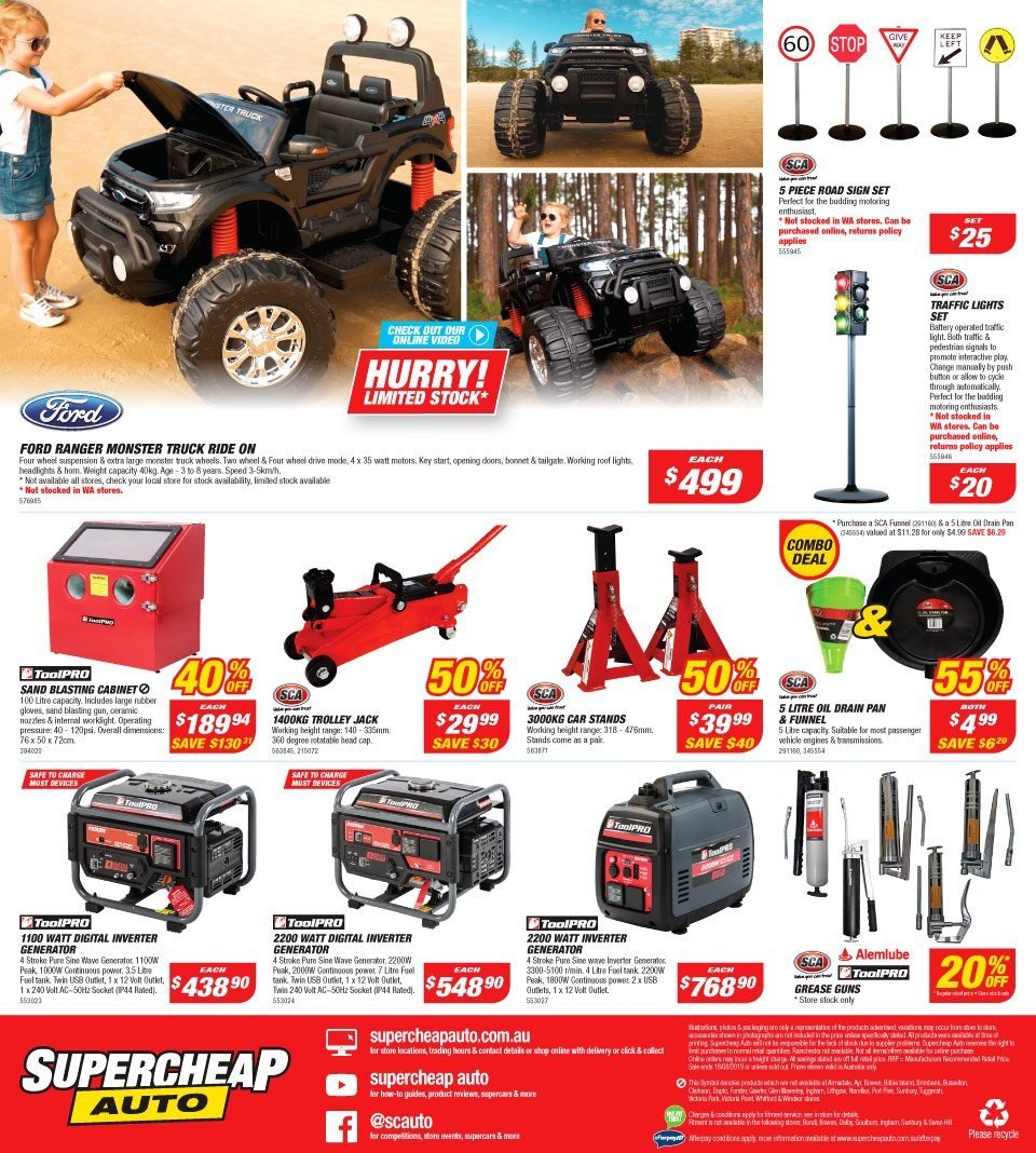 Supercheap Auto catalogue  - 7.8.2019 - 18.8.2019. Page 16.