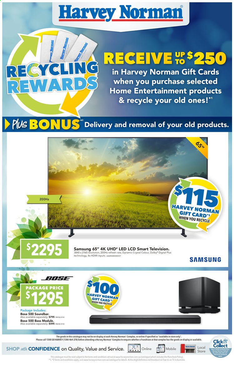 Harvey Norman catalogue  - 13.8.2019 - 25.8.2019. Page 1.