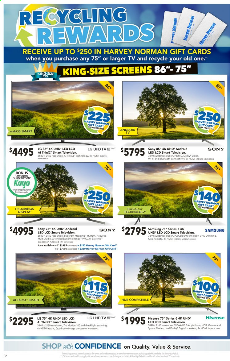 Harvey Norman catalogue  - 13.8.2019 - 25.8.2019. Page 2.