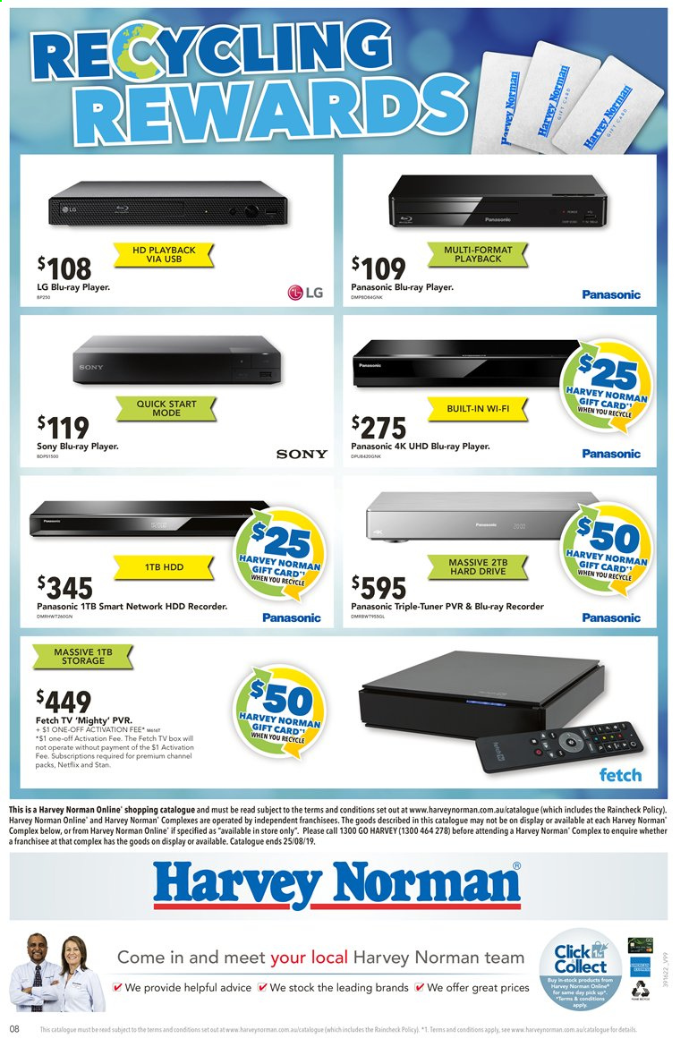 Harvey Norman catalogue  - 13.8.2019 - 25.8.2019. Page 8.