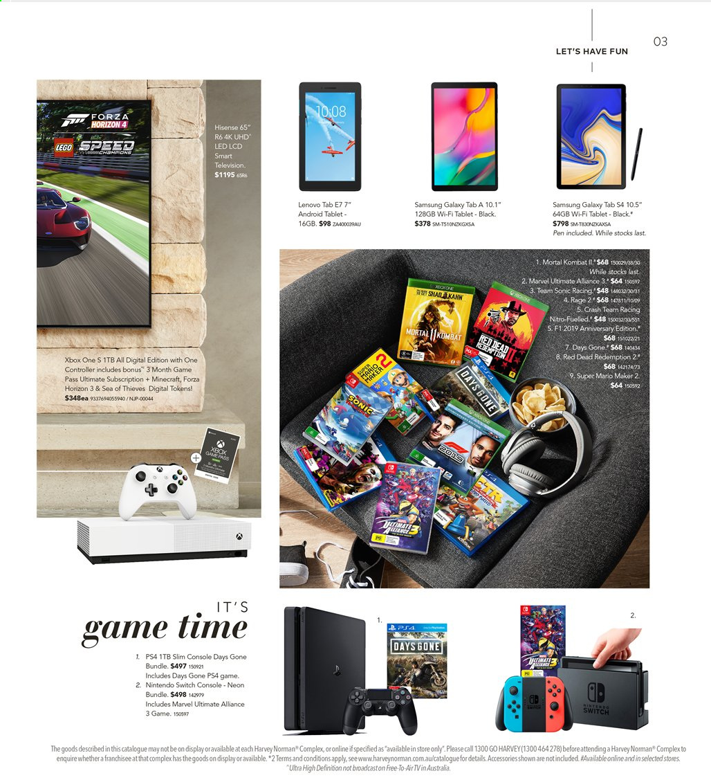 Harvey Norman catalogue  - 16.8.2019 - 1.9.2019. Page 3.