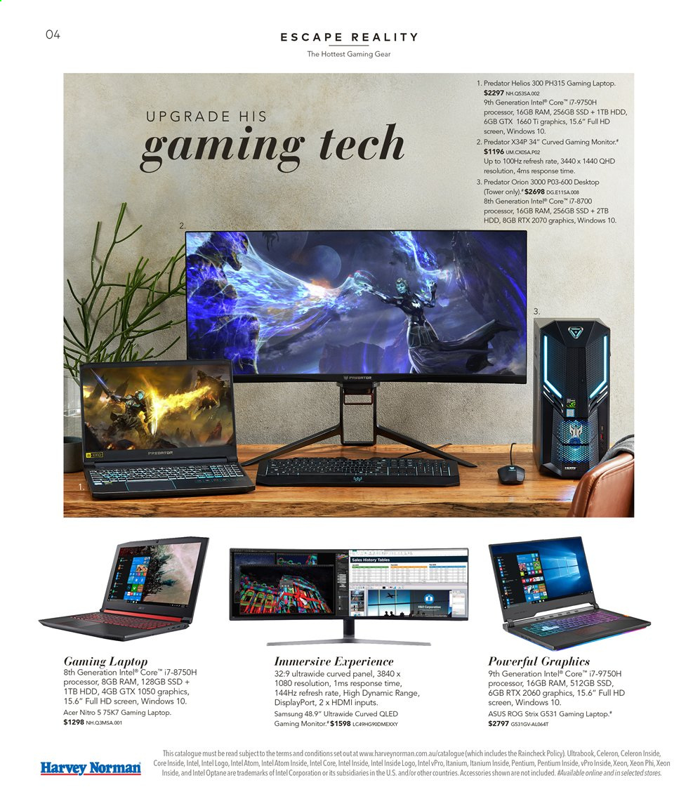 Harvey Norman catalogue  - 16.8.2019 - 1.9.2019. Page 4.