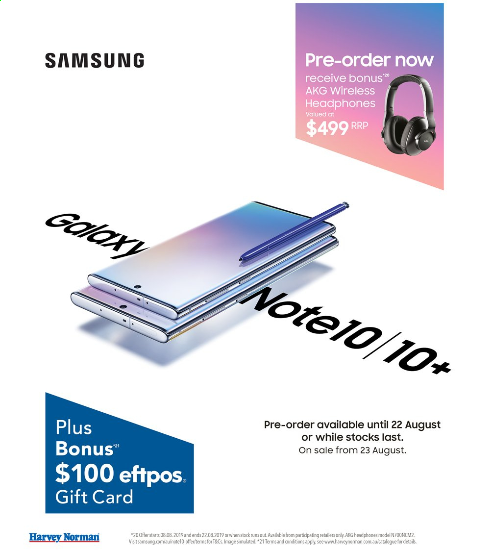 Harvey Norman catalogue  - 16.8.2019 - 1.9.2019. Page 6.