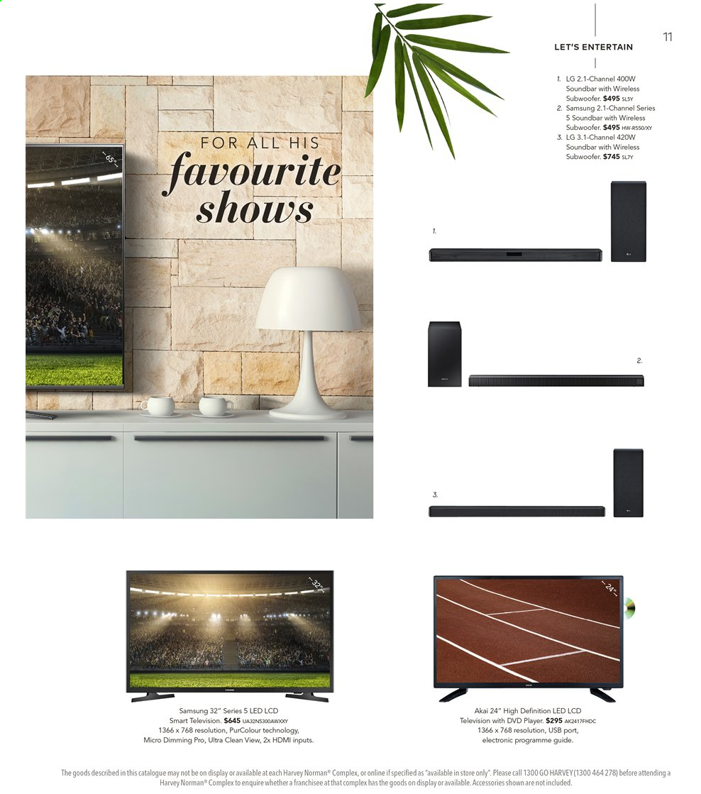 Harvey Norman catalogue  - 16.8.2019 - 1.9.2019. Page 11.