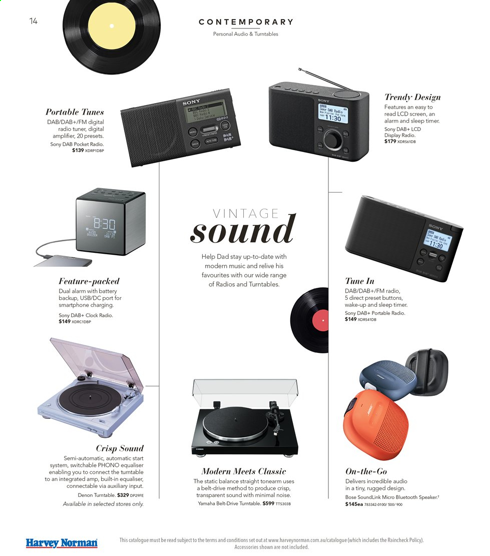 Harvey Norman catalogue  - 16.8.2019 - 1.9.2019. Page 14.