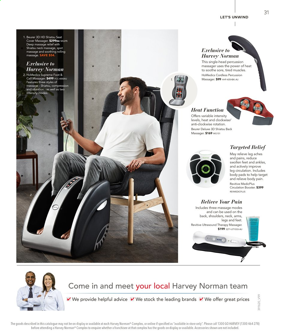 Harvey Norman catalogue  - 16.8.2019 - 1.9.2019. Page 31.