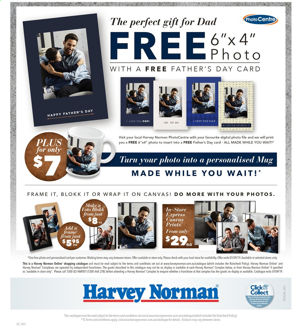 Harvey Norman catalogue  - 16.8.2019 - 1.9.2019. Page 32.