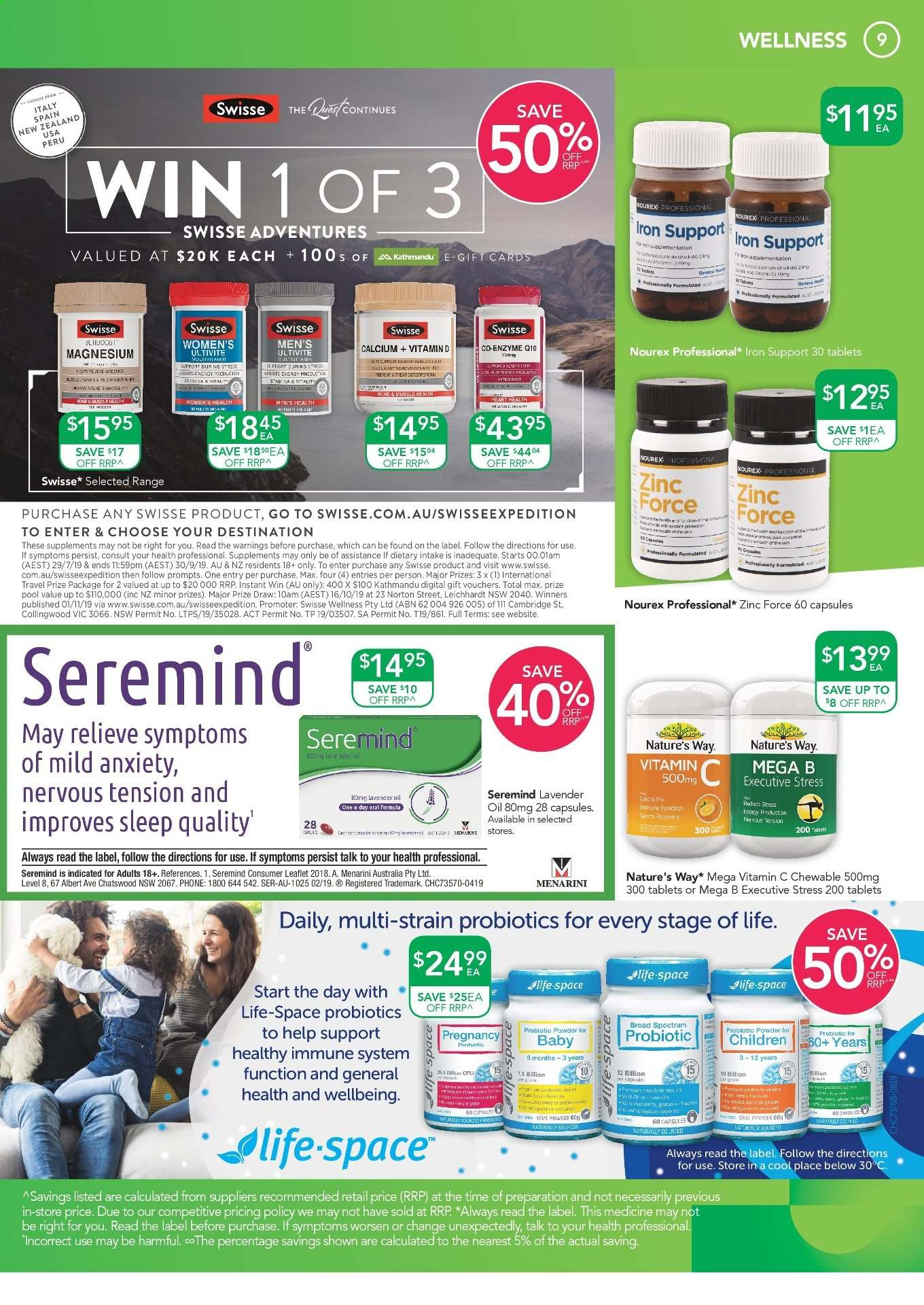 TerryWhite Chemmart catalogue  - 22.8.2019 - 10.9.2019. Page 9.
