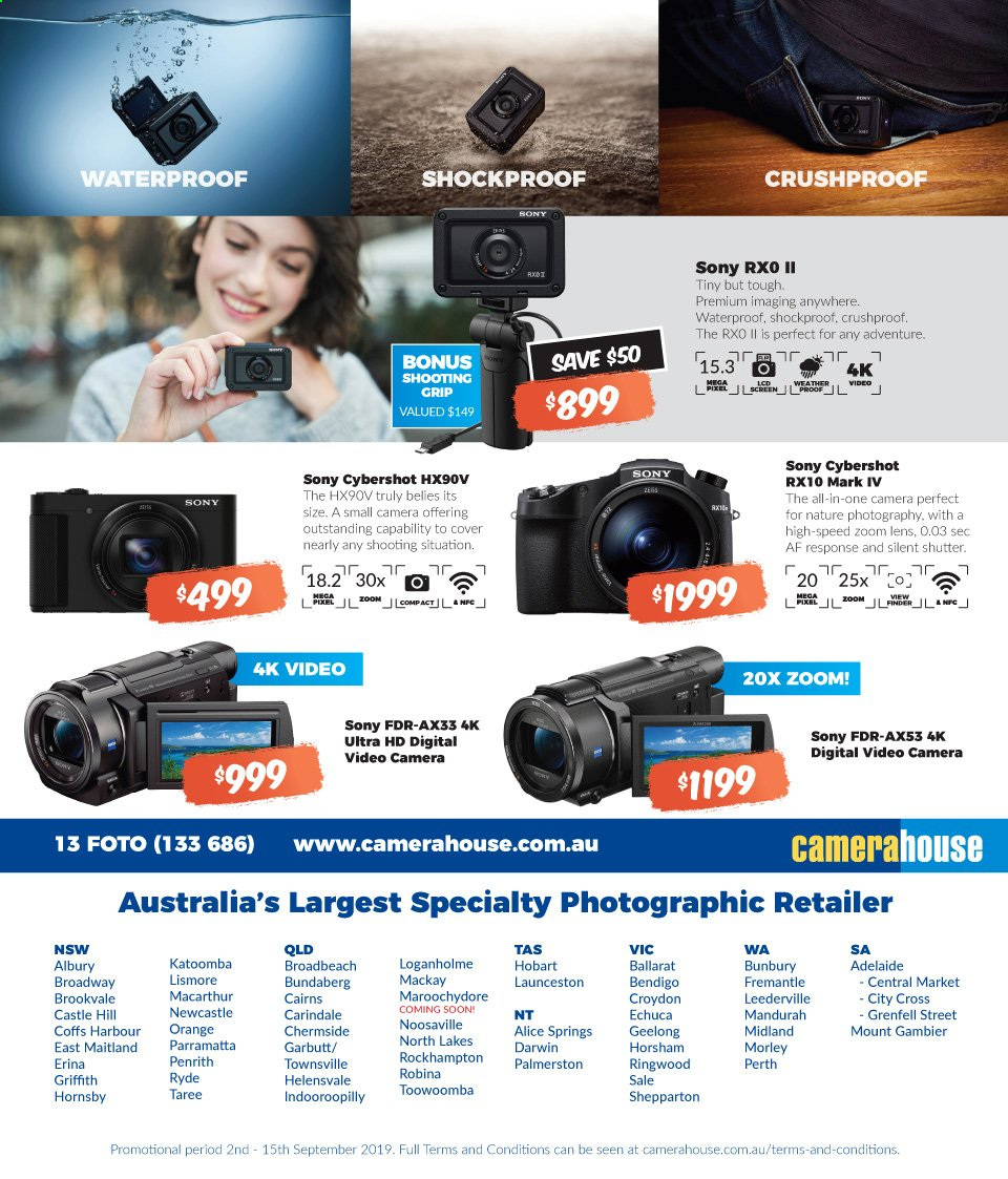 Camera House catalogue  - 2.9.2019 - 15.9.2019. Page 8.