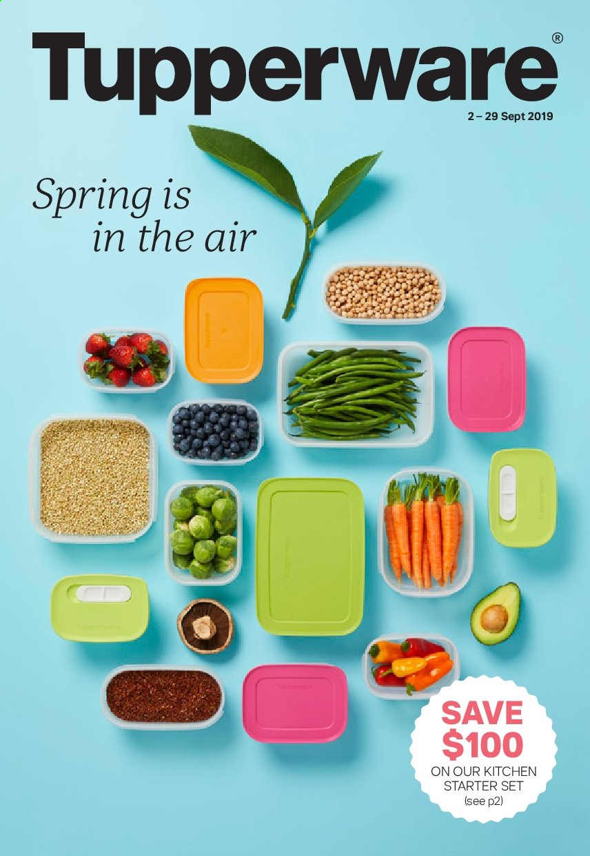 Tupperware catalogue  - 2.9.2019 - 29.9.2019. Page 1.