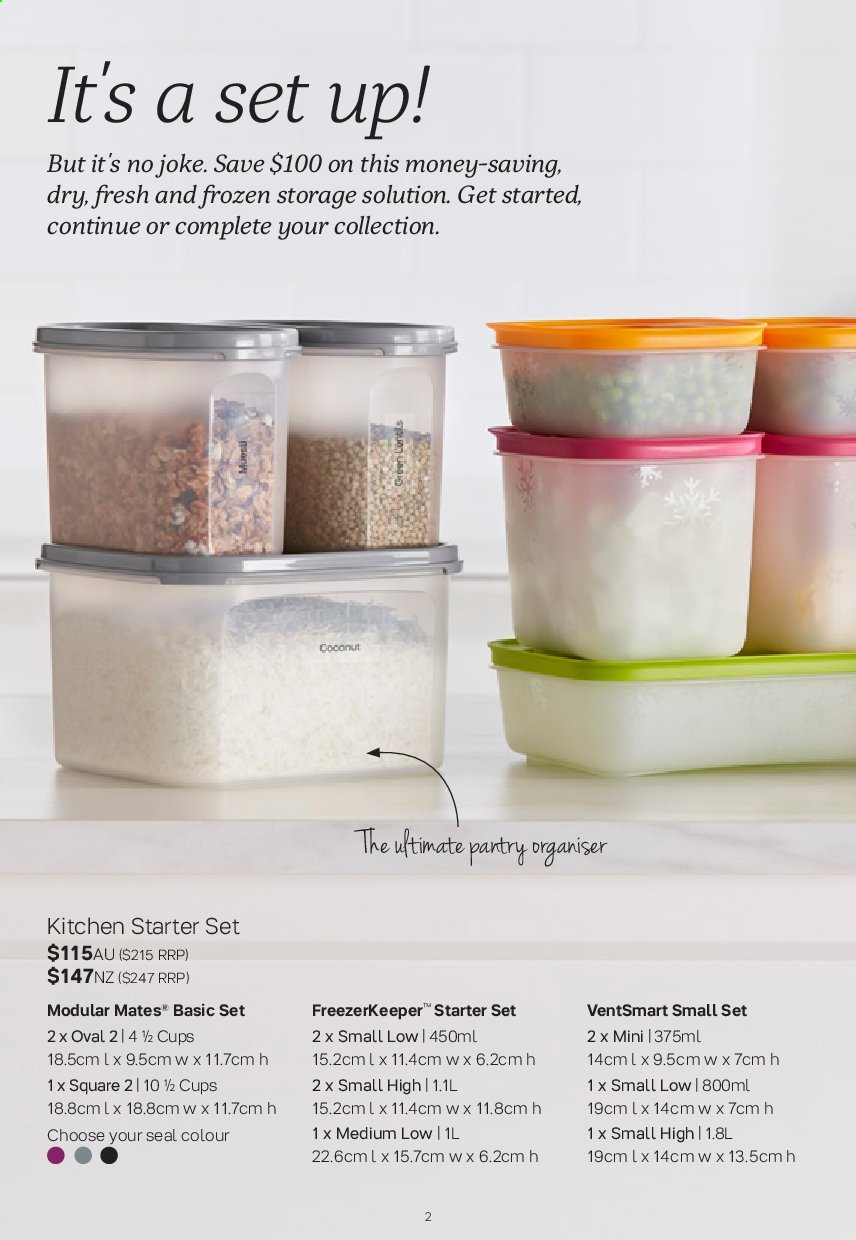 Tupperware catalogue  - 2.9.2019 - 29.9.2019. Page 2.